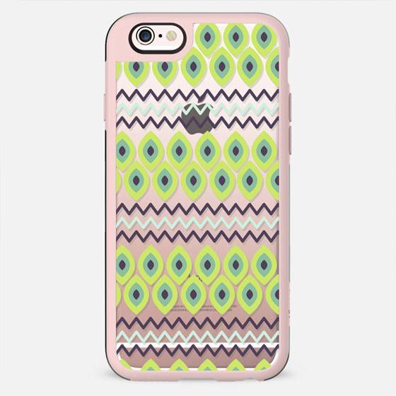 Modern watermelon green black geometrical pattern