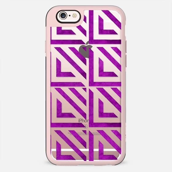 Pink gradient hand painted watercolor geometric pattern - New Standard Case