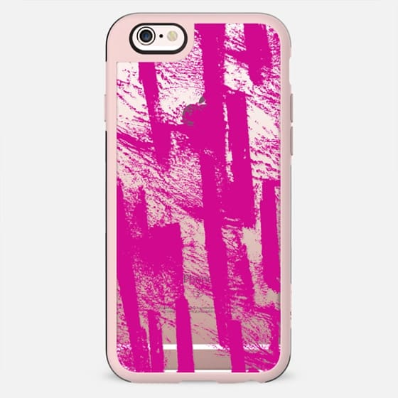 Hand painted  pink watercolor brushtrokes splatters pattern