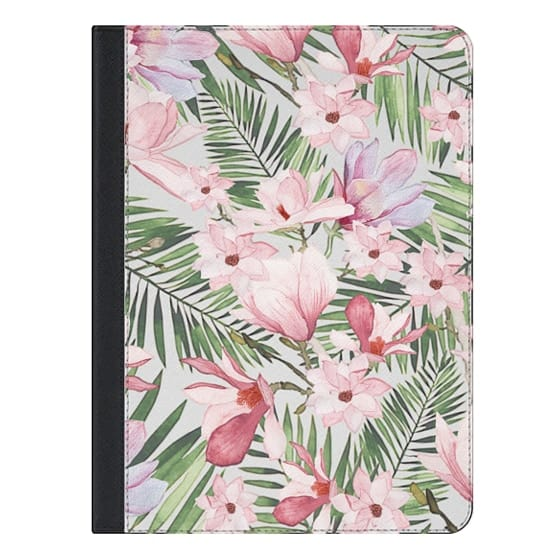 iPad Pro 9.7-inch 保護殼 - Blush pink lavender green watercolor tropical floral