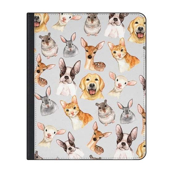 12.9-inch iPad Pro (2018) Covers - Watercolor brown black golden hand painted animals