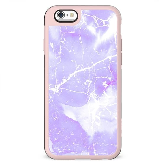 Modern abstract blush violet white marble pattern