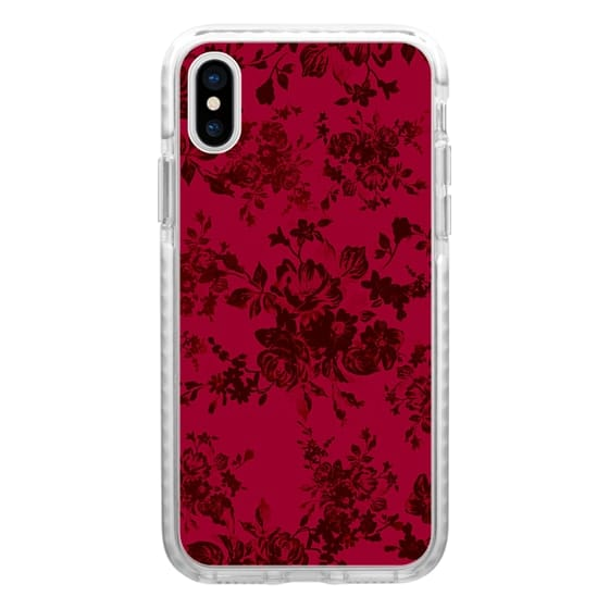iPhone 6s Cases - Vintage black gray red bohemian floral pattern