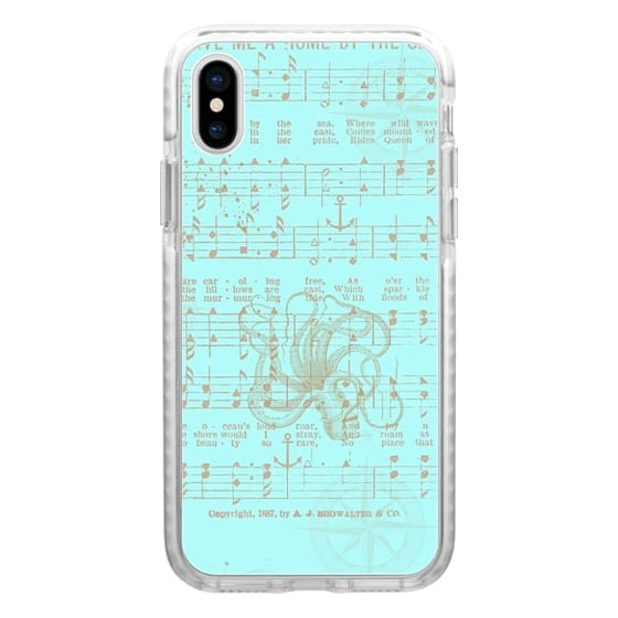 iPhone 6s Cases - Vintage aqua brown nautical classic music sheet