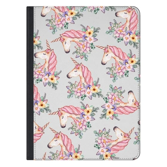 12.9-inch iPad Pro Covers - Pink lilac yellow green watercolor magical unicorn floral