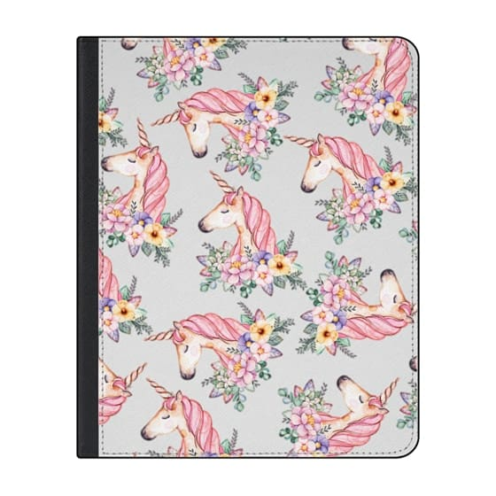 12.9-inch iPad Pro (2018) Covers - Pink lilac yellow green watercolor magical unicorn floral