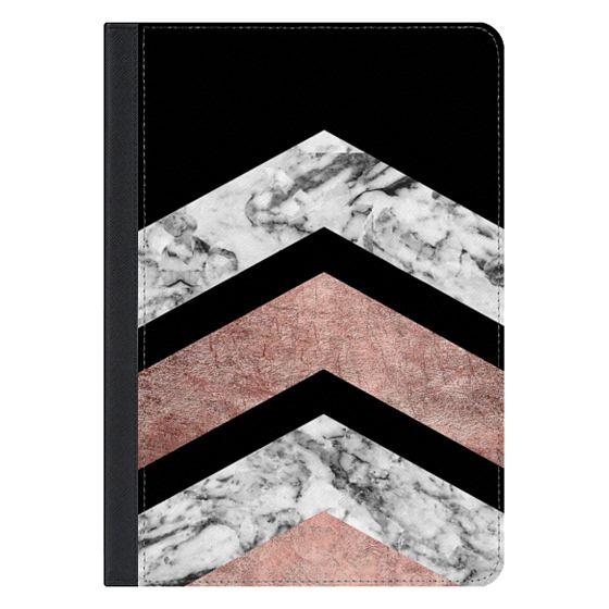 10.5-inch iPad Pro Covers - Modern rose gold black white geometric marble