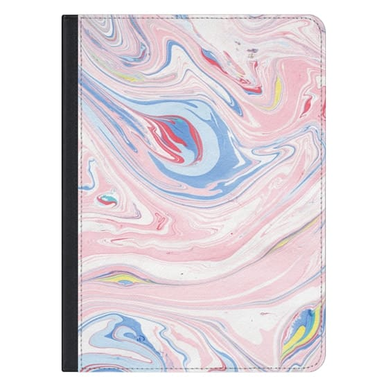 12.9-inch iPad Pro Covers - Elegant pastel pink white blue abstract watercolor marble