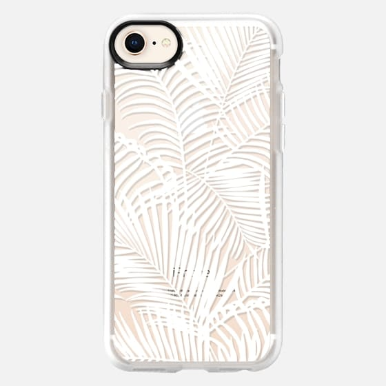 Tropical modern white hand painted palm tree plant - Snap Case