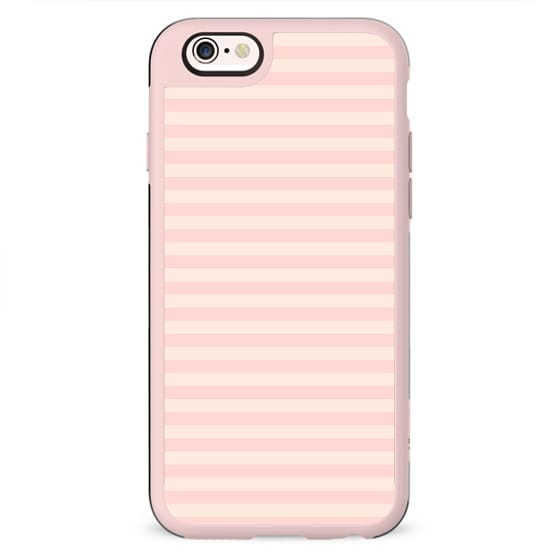 Shabby chic vintage white pink striped pattern
