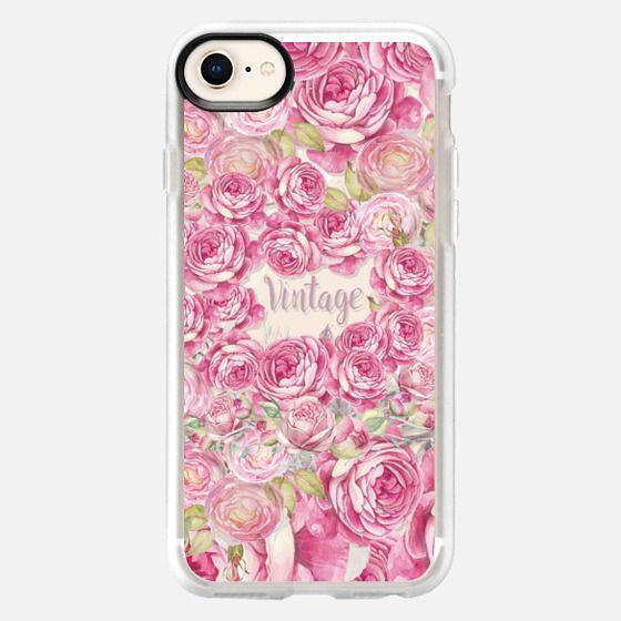 Elegant blush pink  tipo vintage roses floral - Snap Case