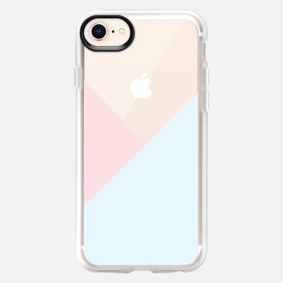Modern pastel pink blue white geometrical triangles - Snap Case