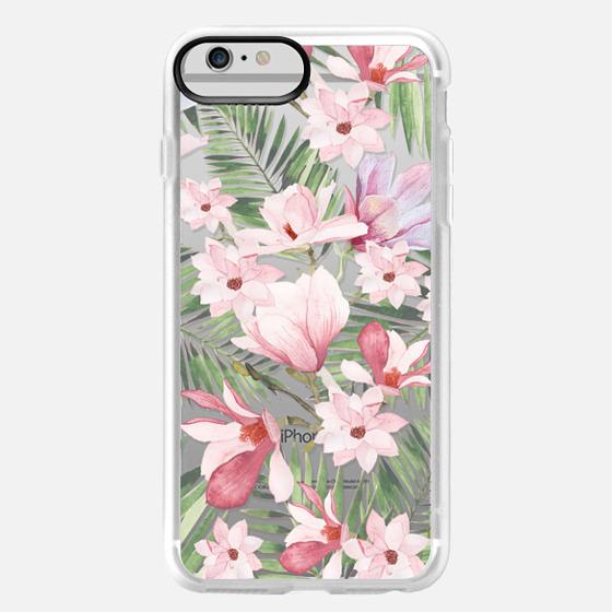 iPhone 6 Plus Case - Blush pink lavender green watercolor tropical floral