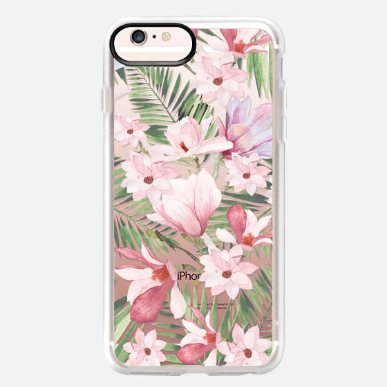 iPhone 6s Plus Case - Blush pink lavender green watercolor tropical floral