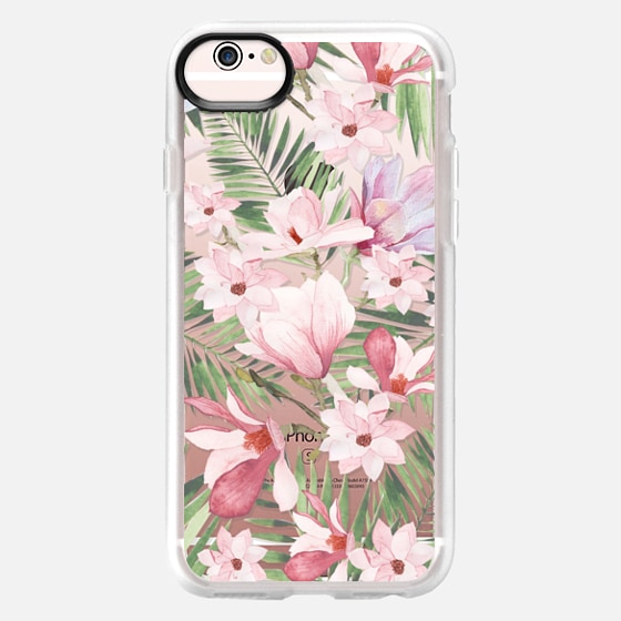 iPhone 6s Case - Blush pink lavender green watercolor tropical floral