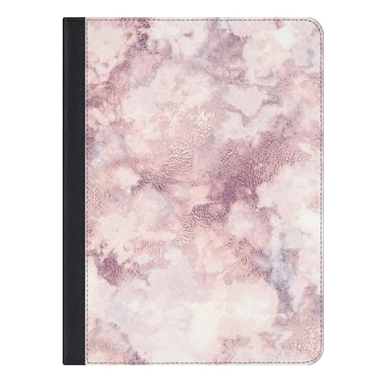 9.7-inch iPad Covers - Elegant rose faux gold pink gray marble