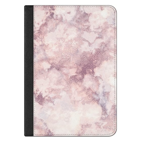iPad Mini (2019) Covers - Elegant rose faux gold pink gray marble