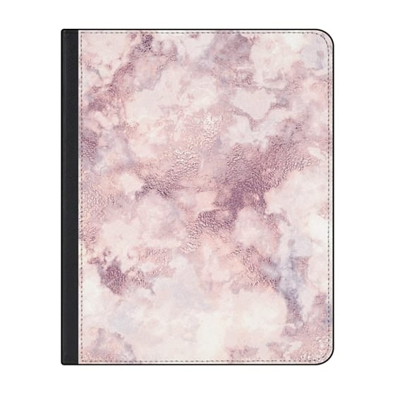 12.9-inch iPad Pro (2018) Covers - Elegant rose faux gold pink gray marble