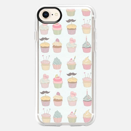 Girly cute sweet pastel colors cupcake pattern - Snap Case