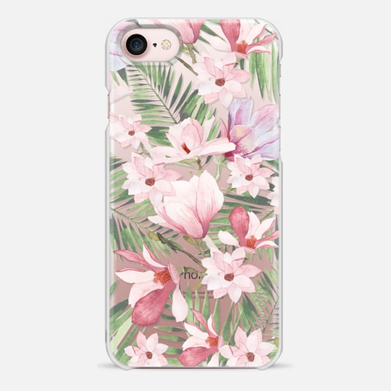 iPhone 7 ケース - Blush pink lavender green watercolor tropical floral