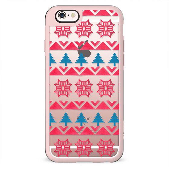Colorful pink blue watercolor scandinavian pattern