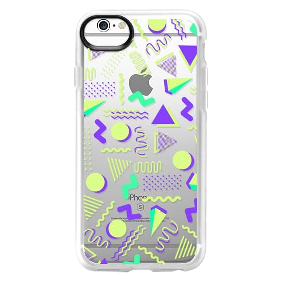 iPhone 6 Cases - Lime green purple geometrical retro 80's modern pattern