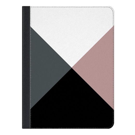 10.5-inch iPad Air (2019) Covers - Modern dusty pink gray black white geometrical