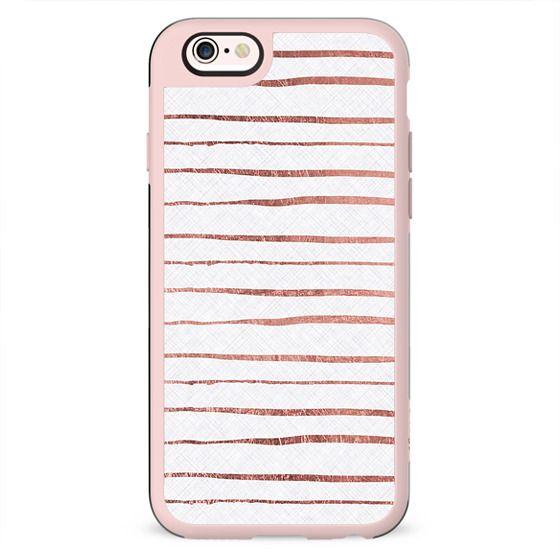 Chic white rose pink modern stripes pattern