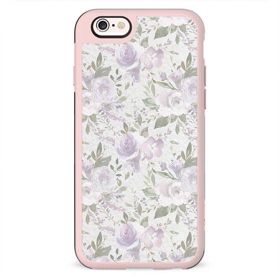 Mauve green lavender blush watercolor boho floral