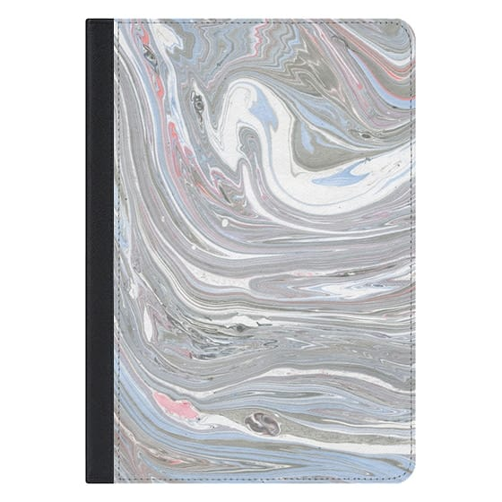 10.5-inch iPad Pro Covers - Abstract pink blue gray watercolor marble pattern