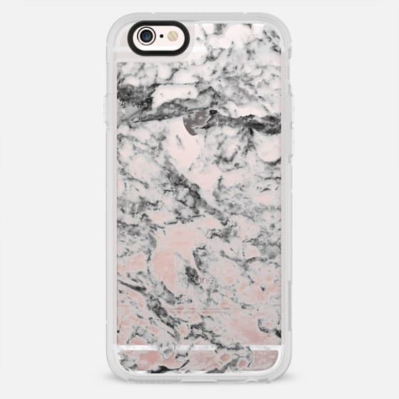 Elegant gray white modern marble texture patterns - New Standard Case