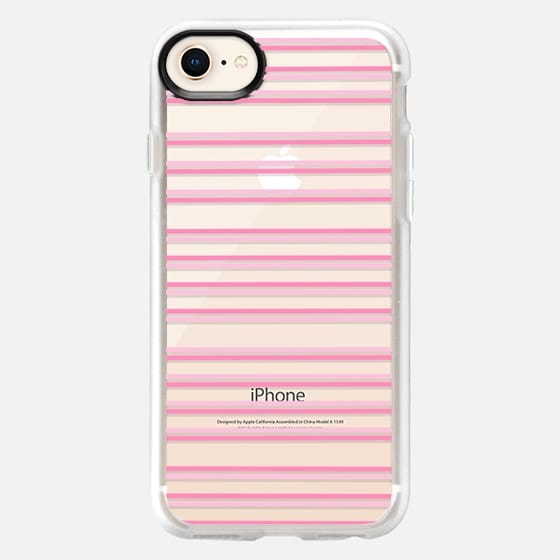 Modern blush pink elegant geometrical stripes - Snap Case