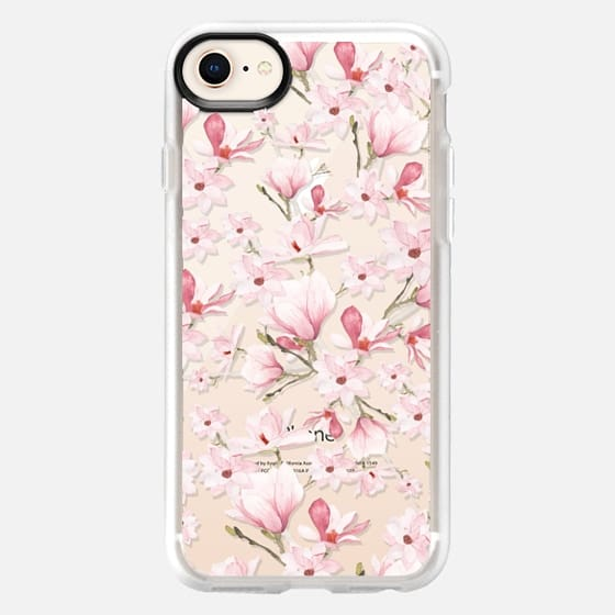 Girly blush pink watercolor modern elegant floral - Snap Case