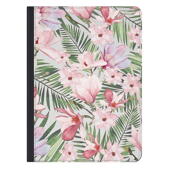 12.9-inch iPad Pro Covers - Blush pink lavender green watercolor tropical floral