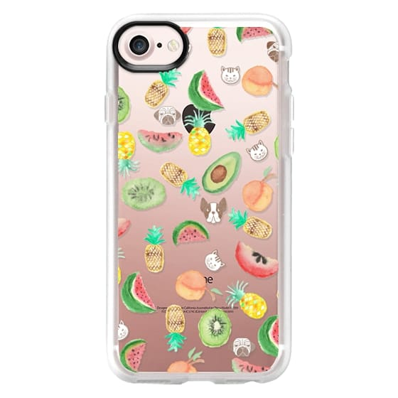 iPhone 6s Cases - Pink lime green watercolor tropical fruit cute pattern