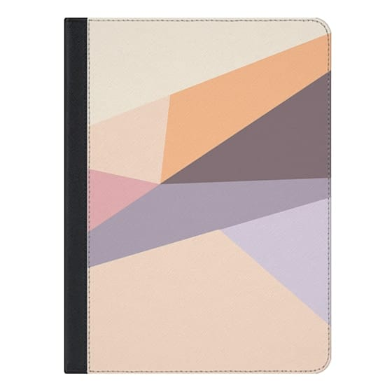 9.7-inch iPad Covers - Modern  geometric abstract pastel lilac pink  colorblock