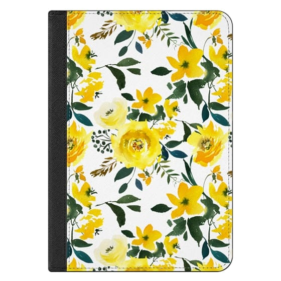 iPad Mini (2019) Covers - Hand painted modern yellow green watercolor floral