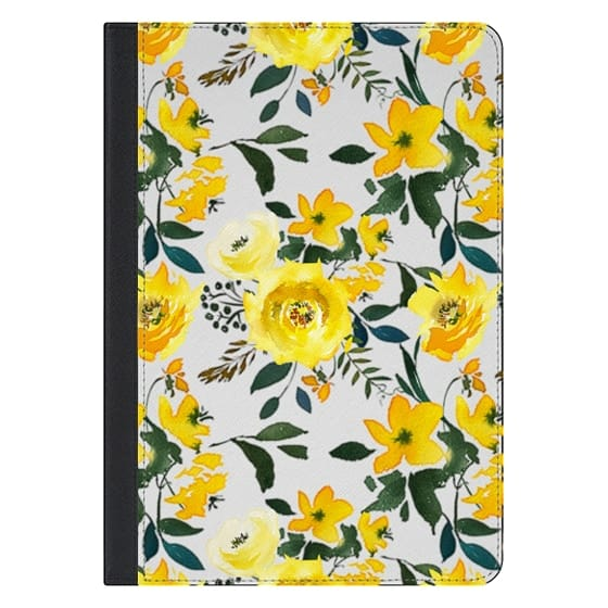 iPad Pro 10.5 Covers - Hand painted modern yellow green watercolor floral