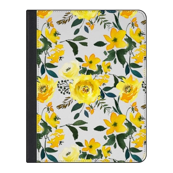 11-inch iPad Pro Covers - Hand painted modern yellow green watercolor floral