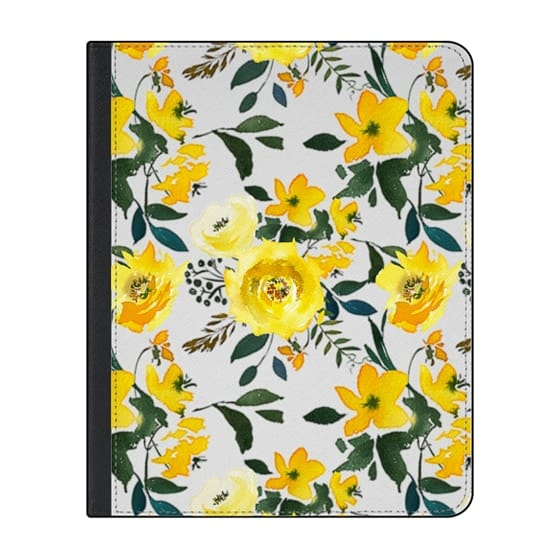 12.9-inch iPad Pro (2018) Covers - Hand painted modern yellow green watercolor floral