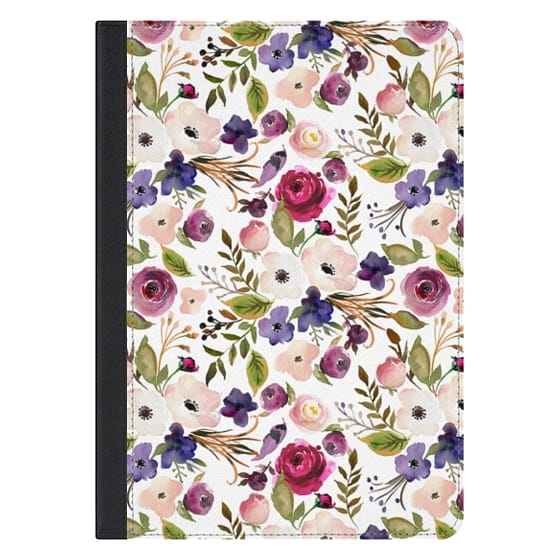 10.5-inch iPad Pro Covers - Violet pink yellow green watercolor modern floral pattern