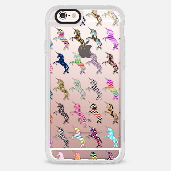 Cute pink floral abstract whimsical unicorn pattern - New Standard Case