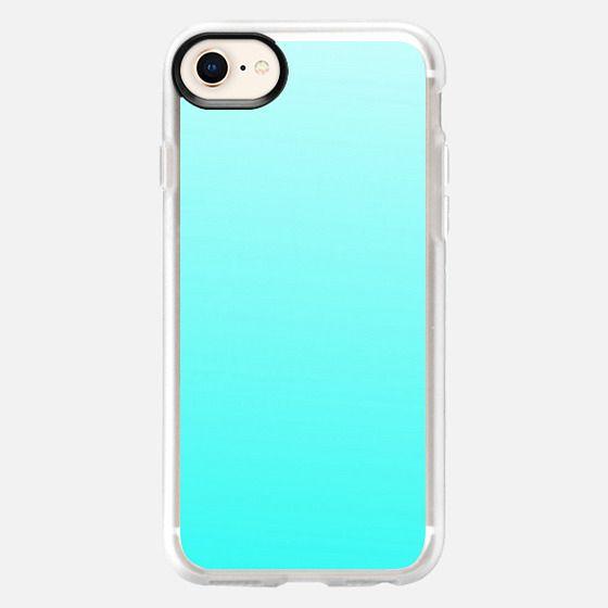 Colorful modern aqua gradient design - Snap Case