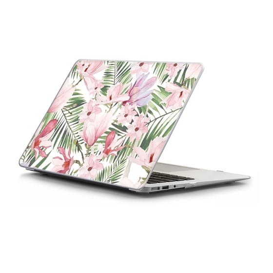 Macbook Air 11 Case - Blush pink lavender green watercolor tropical floral