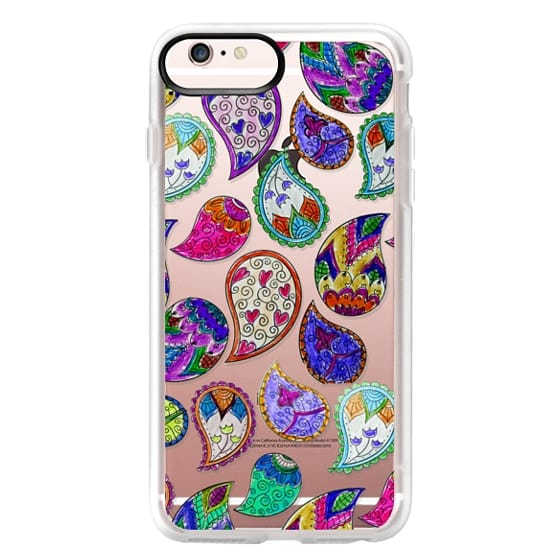 timeless design d147e 73ba3 Classic Grip iPhone 6s Plus Case - Colorful pink blue hand painted  watercolor floral paisley pattern