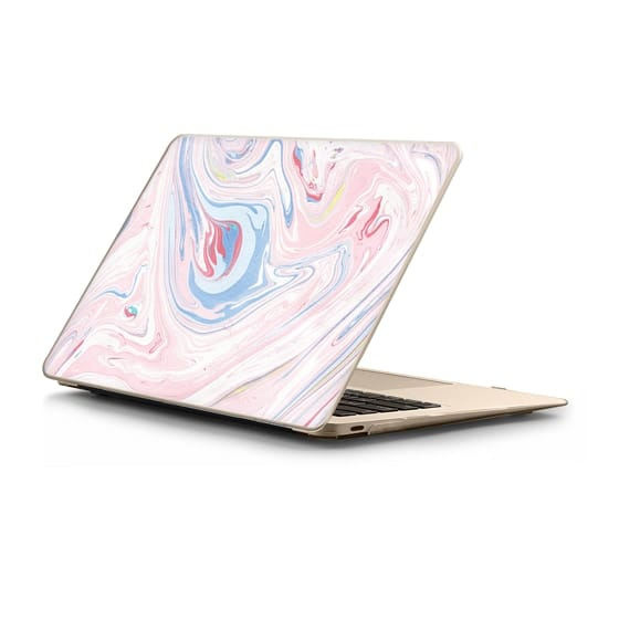 MacBook 12 Sleeves - Modern pastel pink blue chic marble texture