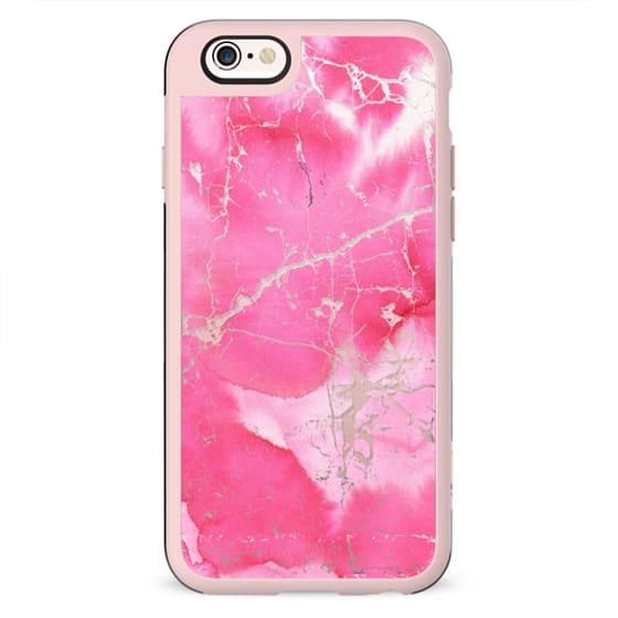 Modern blush pink watercolor simple marble
