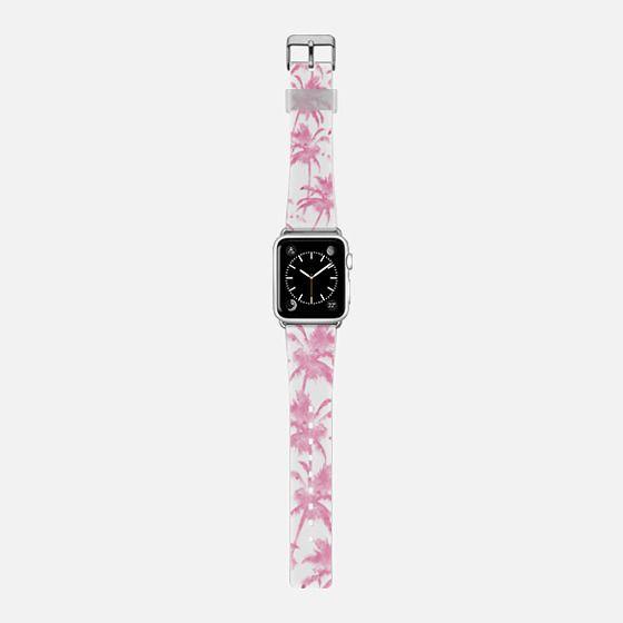 Pink watercolor modern palm tree pattern -
