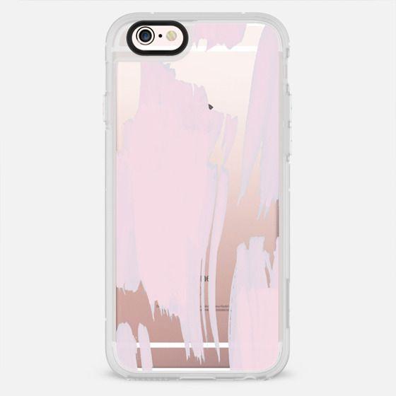 Modern girly pink aqua brush strokes pattern - New Standard Case