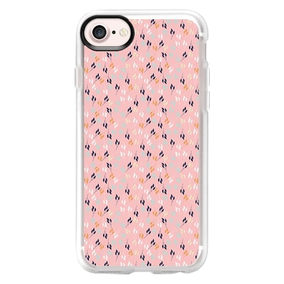 iPhone 6s Cases - Chic coral teal white leaves floral